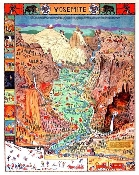 Yosemite map/carte by Jo Mora -1996 print -