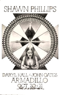 Shawn Phillips,Hall and Oats,poster,1975,Armadillo WHQ