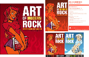 Art Of Modern Rock-1st edition PLUS 2-sided Poster - handbills