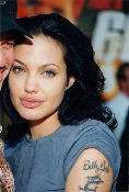 Angelina Jolie and Billy Bob * tattoo * 4x6 color photo