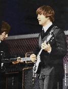 Beatles * Cow Palace 1964 * Lennon / Harrison color
