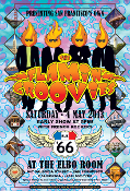 The Flamin' Groovies * 5/4/2013 Poster - SF * Dennis Loren