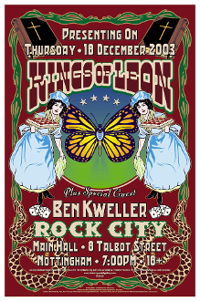Kings Of Leon handbill * Rock City - Nottingham, UK 2003