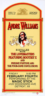 Andre Williams handbill * Magic Stick, Detroit * Arminski