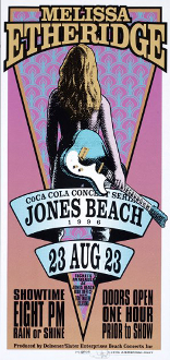 Melissa Etheridge handbill * Jones Beach 1996 - Arminski