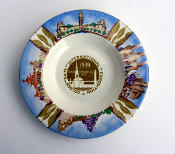 1939 GGIE - Homer Laughlin 6 1/4 ashtray * stamped on the back