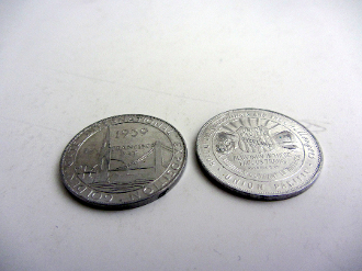 1939 GGIE Union Pacific token - Aluminum coin