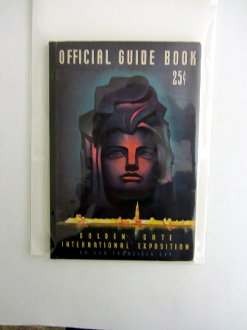 1939 GGIE - Official Guide Book - cover has writing, crease