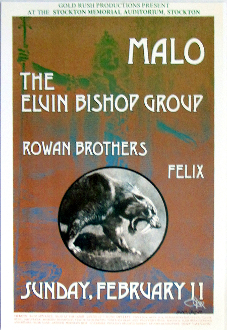 Malo / Elvin Bishop Group * Thomas Morris Art Print