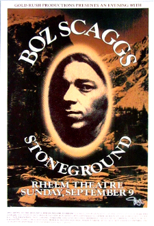 Boz Scaggs Stoneground Rheem Theatre 1973 Art Print