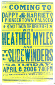 Heather Myles and The Sidewinders,poster,2006,Hatch Show Print