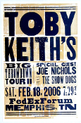Toby Keith's Big Throwdown Tour ll,poster,2006,Hatch Show Print