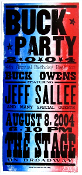 Buck Party,poster,2004,The Stage,Hatch Show Print