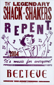 Th' Legendary Shack Shakers,Repent,poster,2004,Hatch Show Print