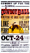 1st Cowboy Ball poster 2003 Luke Perry Hatch Show Print