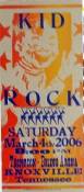 Kid Rock,poster,Knoxville,2006,Hatch Show Print