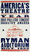 American Theatre of the Year,2003,Ryman Aud,Hatch Show Print