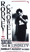 Rodney Crowell,poster,2005,Hatch Show Print