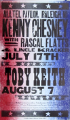 Kenny Chesney - Toby Keith * Hatch Show Print 2004