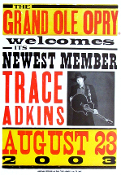 Trace Adkins * Grand Ole Opry Member 2003 - Hatch Show Print