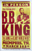 BB King, Memphis TN 2004,Hatch Show Print