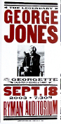 George Jones,Ryman Aud,Nashville,2003,Hatch Show Print
