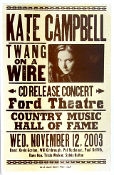 Kate Campbell,Ford Theatre,2003,Hatch Show Print