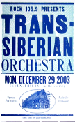 Trans-Siberian Orchestra,Ryman Aud 12-29-2003. SOLD