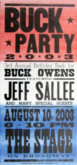 Buck Party 2003 The Stage on Broadway poster Hatch Show Print