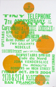 Tiny Telephone Anniv 2004 poster Cafe DuNord/SF Hatch Show Print