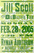 Jill Scott The Big Beautiful Tour 2005 Ryman Aud Hatch Show Prin