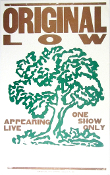 Original Low one show only Tour blank Hatch Show Print