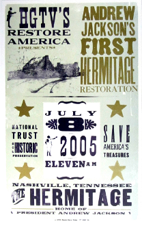 Andrew Jackson Hermitage poster Hach Show Print