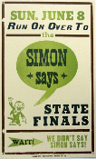 Simon Says State Finals June 8 2004 Hatch Show Print-sold
