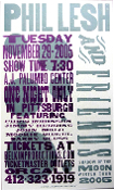 Phil Lesh and Friends Winter Tour 2005 Pittsburgh Hatch Show Pri