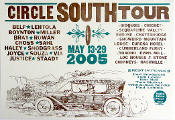 Circle South Tour May 13-19 2005 Hatch Show Print