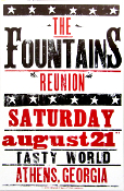 The Fountains Reunion poster 8-21-04 Hatch Show Print