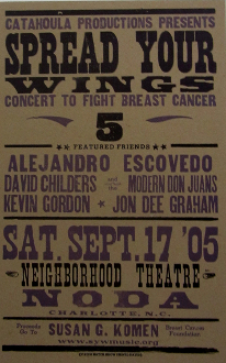 Spread Your Wings 5 benefit concert 2005 Hatch Show Print