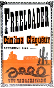 Freeloader Cantina Claqueur tour blank letterpress