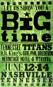 Tennessee Titans Big Time 2004 Hatch Show Print