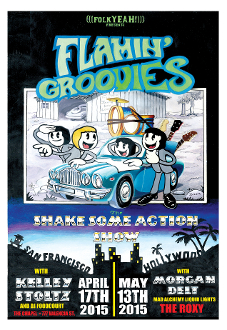 Flamin' Groovies 2015 Chapel / Roxy Art by Cyril Jordan