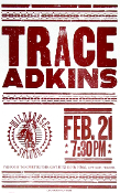 Trace Adkins Wildhorse Saloon 2006 Hatch Show Print
