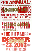 Schuba's Tavern - Chicago Christmas Revue 2003 Hatch Show Print