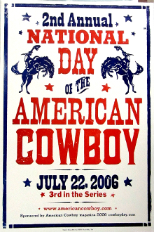 National Day Of the American Cowboy 2006 Hatch Show Print