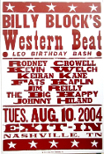 Billy Block's Western Beat Exit - In 2004 Hatch Show Print