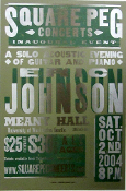 Eric Johnson solo acoustic Meany Hall 2004 Hatch Show Print