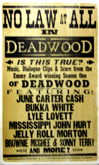 Deadwood Lost Highway Records 2005 Hatch Show Print