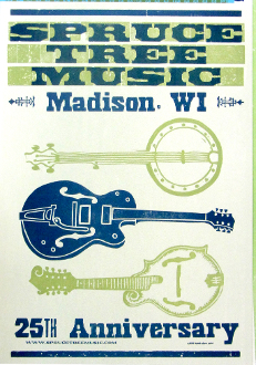 Spruce Tree Music Madison WI 25th Anniv 2005 Hatch Show Print