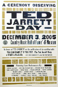 Ted Jarrett Day Country Hall Of Fame 2005 Hatch Show Print