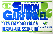 Simon & Garfunkel Everly Bros Gaylord 2004 Hatch Show Print